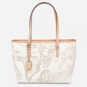 Borsa Donna Shopping a Spalla Media 1A Classe Alviero Martini Geo White D006