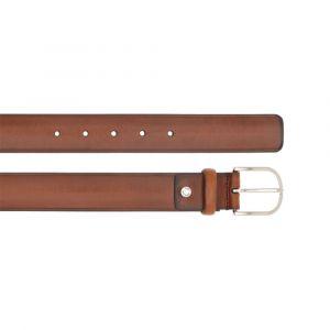 Cintura Uomo THE BRIDGE in Pelle Marrone e Fibbia Silver 120cm linea Burnelleschi Made in Italy