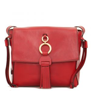 Borsa Donna a Tracolla THE BRIDGE in Pelle Rossa linea Margherita