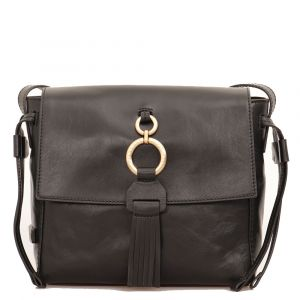 Borsa Donna a Tracolla THE BRIDGE in Pelle Nera linea Margherita