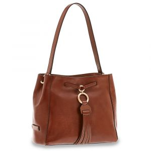 Borsa Donna Hobo a Spalla Media THE BRIDGE in Pelle Marrone linea Margherita