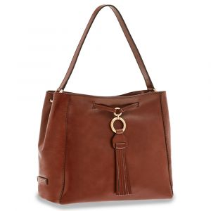 Borsa Donna Hobo a Spalla THE BRIDGE in Pelle Marrone linea Margherita