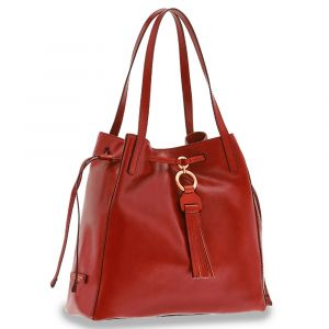 Borsa Donna Shopping a Spalla THE BRIDGE in Pelle Rossa linea Margherita