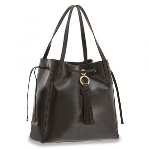 Borsa Donna Shopping a Spalla THE BRIDGE in Pelle Nera linea Margherita