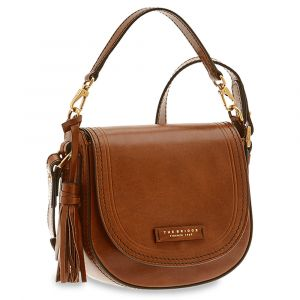Borsa Donna Piccola a Mano con Tracolla THE BRIDGE in Pelle Marrone linea Pearl District