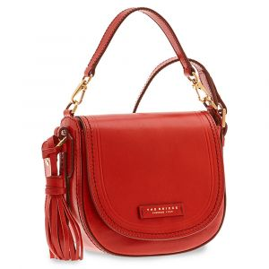 Borsa Donna Piccola a Mano con Tracolla THE BRIDGE in Pelle Rossa linea Pearl District