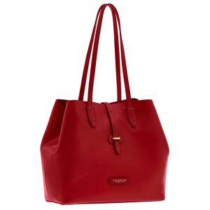 Borsa Donna Shopper a Spalla THE BRIDGE in Pelle Rossa linea Dalston