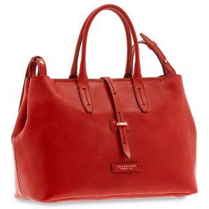 Borsa Donna Shopper a Mano con Tracolla THE BRIDGE in Pelle Rossa linea Dalston