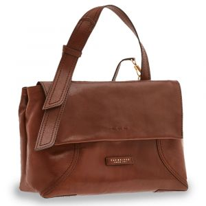 Borsa Donna a Mano con Tracolla THE BRIDGE in Pelle Marrone linea Pienza