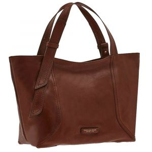 Borsa Donna Shopper THE BRIDGE in Pelle Marrone linea Pienza