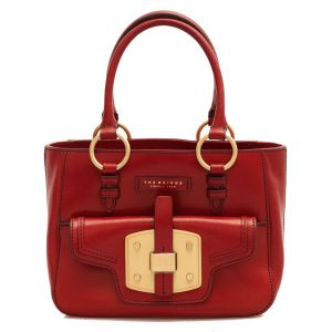 Borsa Donna a Mano con Tracolla THE BRIDGE in Pelle Rossa linea Lambertesca
