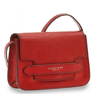 Borsa Donna a Tracolla Media THE BRIDGE in Pelle Rossa linea Lucrezia