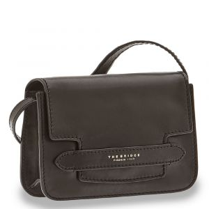 Borsa Donna a Tracolla Media THE BRIDGE in Pelle Nera linea Lucrezia