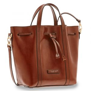 Borsa Donna Secchiello a Mano THE BRIDGE in Pelle Marrone linea Vittoria