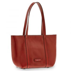 Borsa Donna Shopping a Spalla THE BRIDGE in Pelle Rossa linea Vittoria