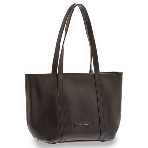 Borsa Donna Shopping a Spalla THE BRIDGE in Pelle Nera linea Vittoria