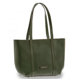 Borsa Donna Shopping a Spalla THE BRIDGE in Pelle Verde Inglese linea Vittoria