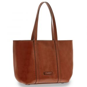 Borsa Donna Shopping Grande a Spalla THE BRIDGE in Pelle Marrone linea Vittoria