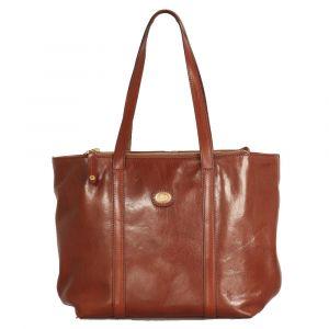 Borsa Donna Shopping Bag THE BRIDGE in Pelle Marrone linea Story