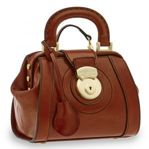 Borsa Donna Mini Doctor Bag THE BRIDGE in Pelle Marrone linea Rufina Made in Italy