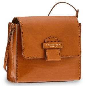Borsa Donna a Tracolla THE BRIDGE in Pelle Color Cognac linea Cernaia