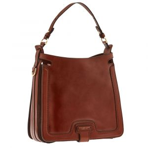 Borsa Donna Sacca a Spalla THE BRIDGE in Pelle Marrone linea Giglio