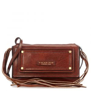 Borsa Donna a Tracolla THE BRIDGE in Pelle Marrone linea Consuma