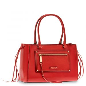 Borsa Donna Bauletto a Spalla THE BRIDGE in Pelle Rosso linea Consuma