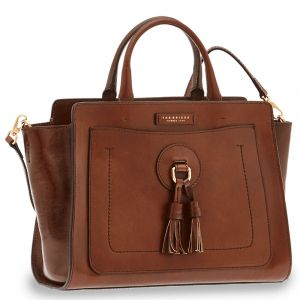 Borsa Donna a Mano con Tracolla THE BRIDGE in Pelle Marrone linea Santacroce