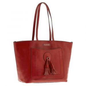 Borsa Donna Shopper THE BRIDGE in Pelle Rossa linea Santacroce