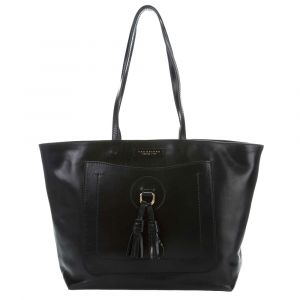 Borsa Donna Shopper THE BRIDGE in Pelle Nera linea Santacroce