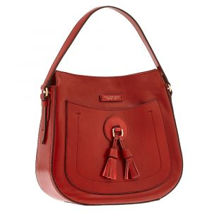 Borsa Donna Sacca a Spalla THE BRIDGE in Pelle Rossa linea Santacroce