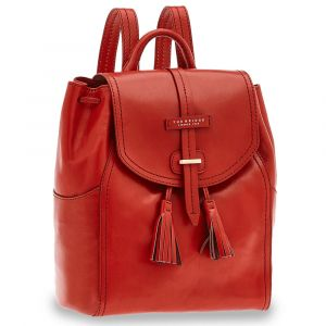 Zaino Donna con Pattina THE BRIDGE in Pelle Rossa linea Florentin