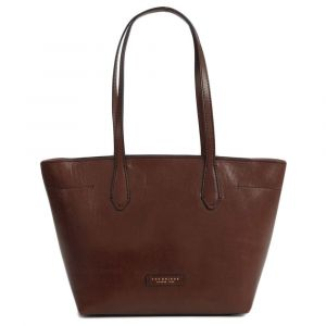 Borsa Shopper Media a Spalla The Bridge in Pelle Marrone linea Guelfa