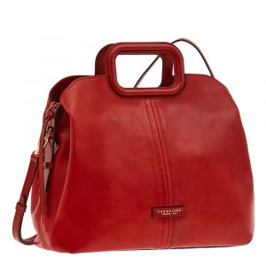 Borsa Donna a Mano con Tracolla THE BRIDGE in Pelle Rossa linea Gorgona