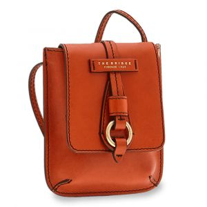 Borsa Donna Mini a Tracolla THE BRIDGE in Pelle Color Senape linea Strozzi
