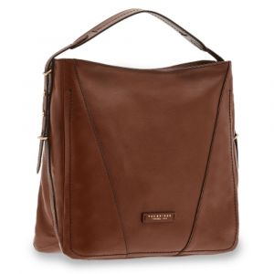 Borsa Donna Hobo a Spalla THE BRIDGE in Pelle Marrone linea Tintori