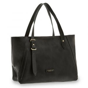 Borsa Donna Shopper a Spalla THE BRIDGE in Pelle Nera linea Tintori