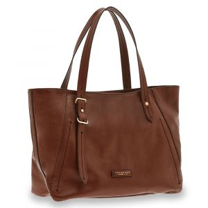 Borsa Donna Shopper a Spalla THE BRIDGE in Pelle Marrone linea Tintori