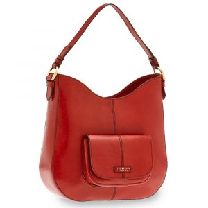 Borsa Donna Sacca a Spalla THE BRIDGE in Pelle Rossa linea Faentina
