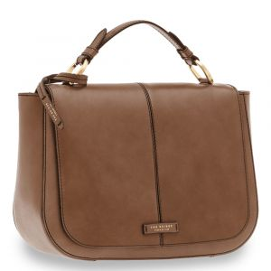 Borsa Donna Doppia Funzione a Mano THE BRIDGE in Pelle Color Taupe linea Faentina