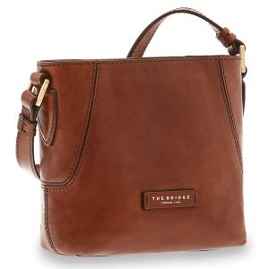 Borsa Donna Secchiello a Tracolla THE BRIDGE in Pelle Marrone linea Caterina