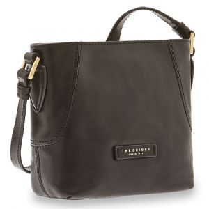 Borsa Donna Secchiello a Tracolla THE BRIDGE in Pelle Nera linea Caterina