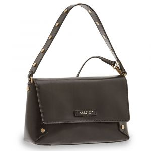 Borsa Donna a Spalla con Tracolla THE BRIDGE in Pelle Nera linea Eleonora