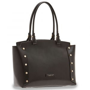 Borsa Donna Shopping a Spalla THE BRIDGE in Pelle Nera linea Eleonora