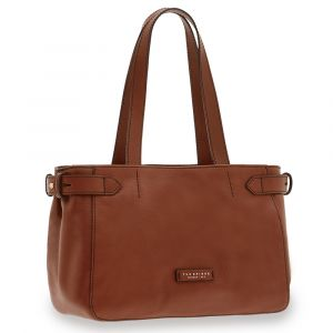Borsa Donna Shopping a Spalla THE BRIDGE in Pelle Marrone linea Maria