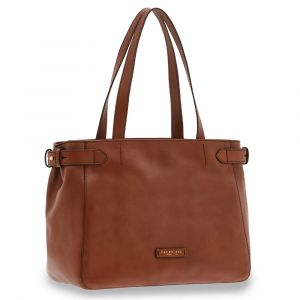 Borsa Donna Shopping a Spalla Grande THE BRIDGE in Pelle Marrone linea Maria