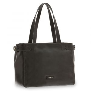 Borsa Donna Shopping a Spalla Grande THE BRIDGE in Pelle Nera linea Maria