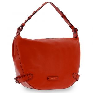 Borsa Donna Hobo a Spalla THE BRIDGE in Pelle Rossa linea Maria