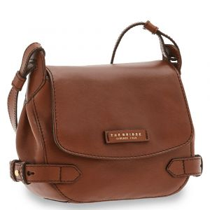Borsa Donna a Tracolla con Pattina THE BRIDGE in Pelle Marrone linea Maria